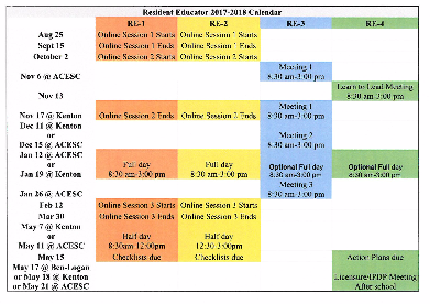 RE 2017-2018 Schedule