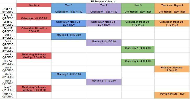 18/19 Program Calendar